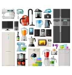 home appliances icons set set elements vector image