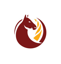 horse and wheat sign vector image