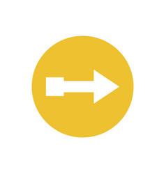 Icon arrow button in color circle vector