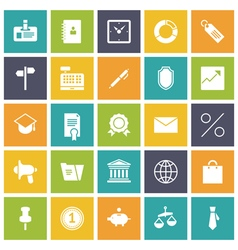 Icons plain tablet business office vector