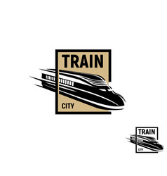 Isolated abstract black color train in brown vector
