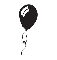 isolated balloon silhouette vector image