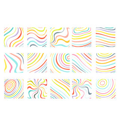 isolated on white abstract colorful waves flowing vector image