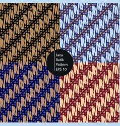 Java style batik seamless pattern background vector