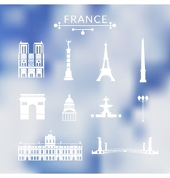 Landmarks of Paris vector image