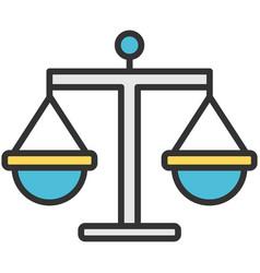 libra balance and equilibrium flat icon vector image