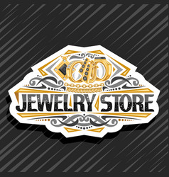 Logo for jewelry store vector