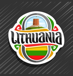 logo for lithuania vector image