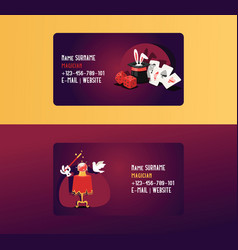 magician business card show vector image