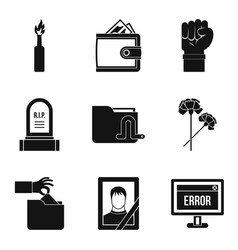 Military action icons set simple style vector