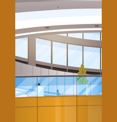 Modern business center office building vector