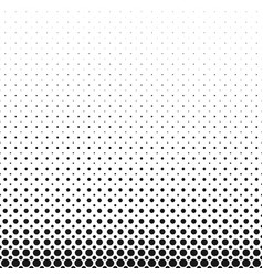 monochrome geometrical abstract halftone circle vector image