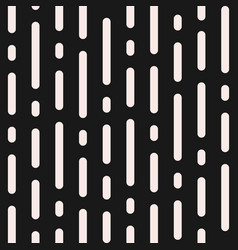 Monochrome seamless pattern vertical rounded lines vector
