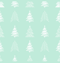 new year christmas seamless pattern with christmas vector image
