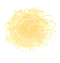 Orange watercolor stain isolated on white vector