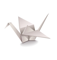 Origami Crane isolated on white vector image