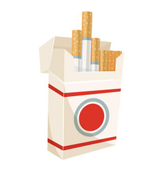 pack cigarettes open tobacco cardboard box vector image