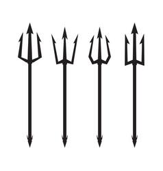poseidon s trident set vector image