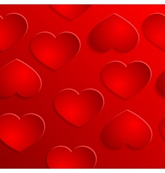 red heart seamless background pattern vector image vector image