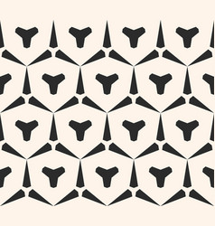 Seamless geometric pattern with triangular shapes vector