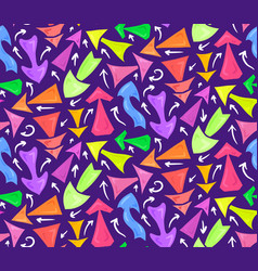 seamless neon pattern of hand drawn multicolored vector image