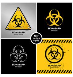 Set biohazard symbols vector