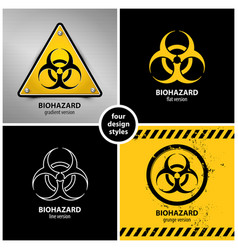 Set of biohazard symbols vector