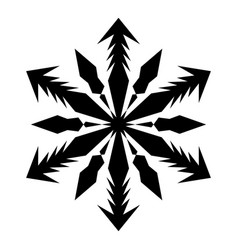 simple snowflake template vector image