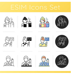 social groups icons set vector image