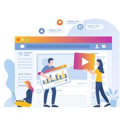 Social media marketing networking platforms vector