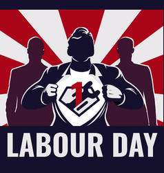 super workers labour day vector image