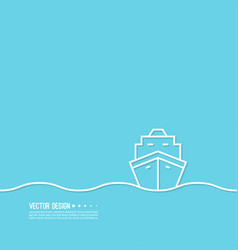 transport ship icon vector image