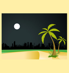 Urban beach by night vector