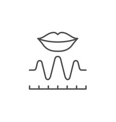 voice recognition line outline icon vector image