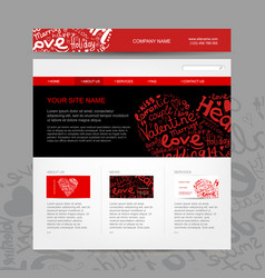 website design template for dating site vector image