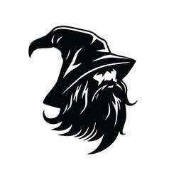 wizard logo character design vector image