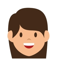 woman avatar character isolated icon vector image