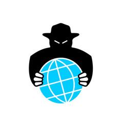 World aggressor symbol black silhouette vector