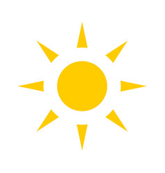 yellow sun sun icon vector image