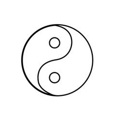 Yin yang symbol black color icon vector