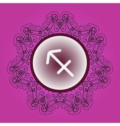 Zodiac sign what is karma circle vector