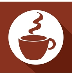 cartoon cup coffee design design vector image