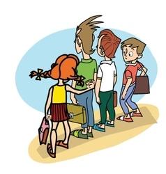 Children at school threat vector image