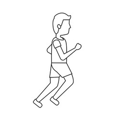 person avatar running or jogging icon image vector image