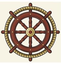 rudder design vector image