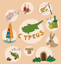 set of national profile of the cyprus vector image vector image