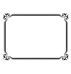Simple ornamental frame vector