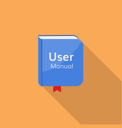 user guide manual icon vector image vector image