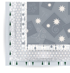 Abstract set of Christmas seamless backgrounds vector image