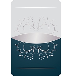 beautiful luxury card or invitation vector image vector image
